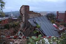 Ve Zlíně došlo k celkovému zřícení rekonstruovaného rodinného domu.