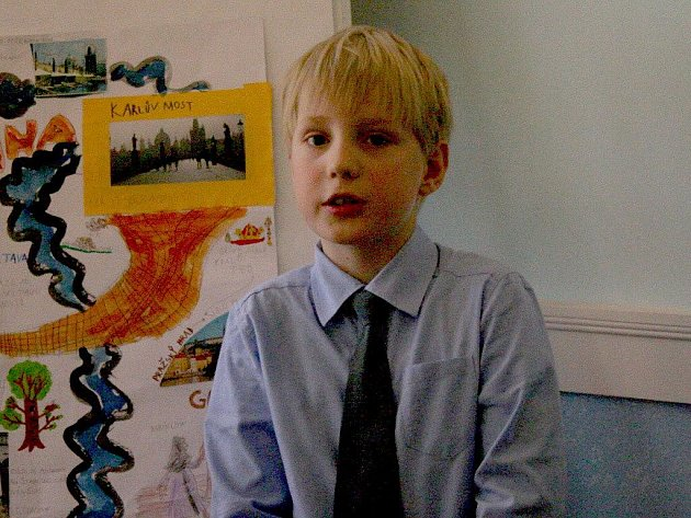 Nadané děti při prezentaci svých projektů