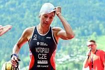 Helena Kotopulu na mistrovství Evropy ve středním triatlonu 2021