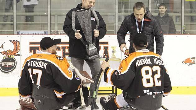 Sledge hokejisté Zlína slaví čtvrtý triumf v řadě