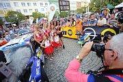 Barum Czech Rally Zlín 2017 start na náměstí Míru ve Zlíně