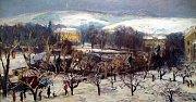 Výstava Zlínský kraj očima malíře Vladimíra Hrocha v krajské galerii výtvarného umění ve Zlíně.  Zlínský zámek 1945