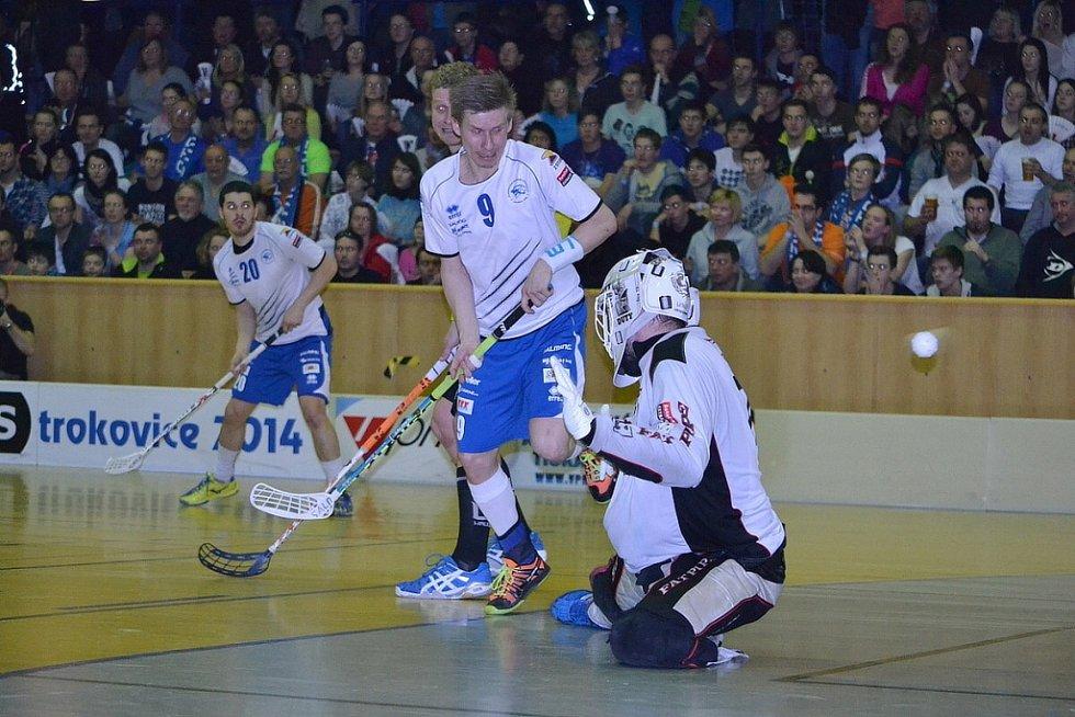 Šesté čtvrtfinále play off extraligy ve Florbale Otrokovice - Chodov
