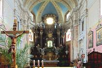 Interiér kostela ve Zlíně-Štípě.