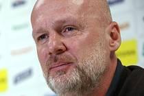 Tisková konference FC FASTAV Zlín. Michal Bílek