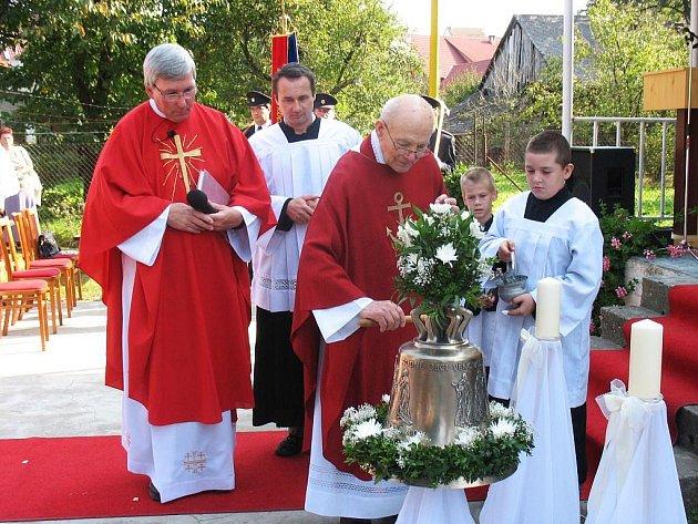 Zvon Svatý Václav v Sazovicích.