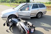 Nehoda v ulici Broučkova ve Zlíně