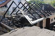 Požár střechy garáže v Zádveřicich – Rakové u Zlína