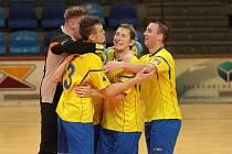 Futsalisté Zlína ve 13. kole druhé ligy porazil Dolní Loučky 6:5, když po prvním poločase prohrávali o čtyři góly.  Foto: pro Deník/Jan Zahnaš