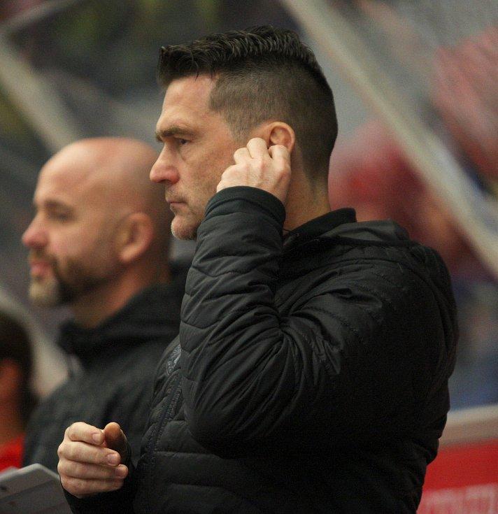 Extraligoví hokejisté PSG Berani Zlín v pátek v 9. kole na svém zimákz vyzvali úřadujícího mistra z Třince. Na snímku Zadina