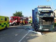 Autonehoda v Morkovicích se stala 25. června. Ilustrační foto