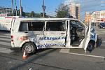 Vážná nehoda v centru Zlína