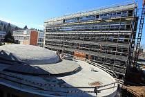 Stavba Vzdělávacího komplexu UTB ve Zlíně.