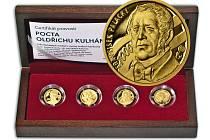 Medaile s motivy bankovek připomínají Oldřicha Kulhánka