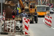 Rekonstrukce zastávky Pod Babou.