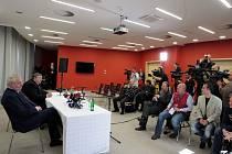 Tisková konference v hotelu Atrium v Otrokovicích.