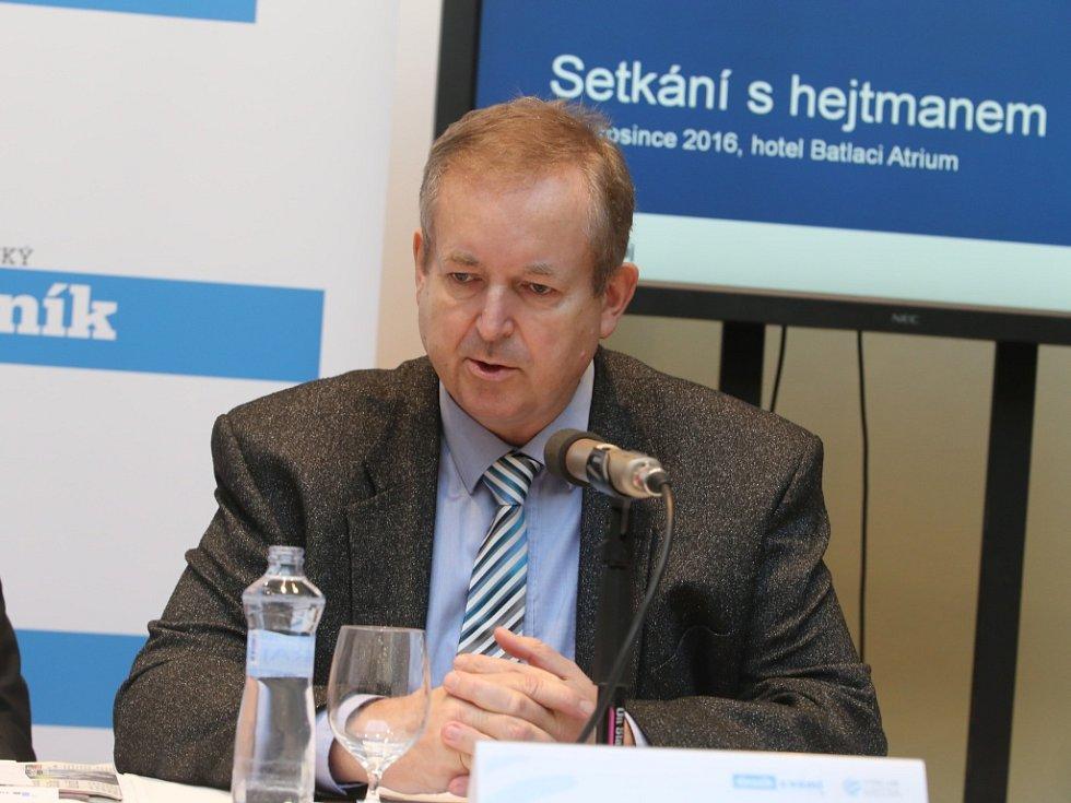 Akce Deník s Vámi, panelová diskuze s hejtmanem Zlínského kraje. Libor Karásek