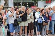 Akce I senioři umí žít naplno na náměstí Míru ve Zlíně.