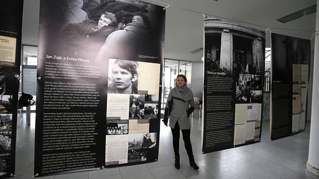 Výstava Jan Palach 69 v Městském divadle ve Zlíně.