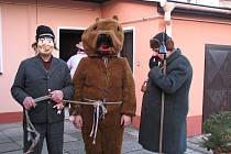 Medvěd s medvědářem, Karlovice 2007.