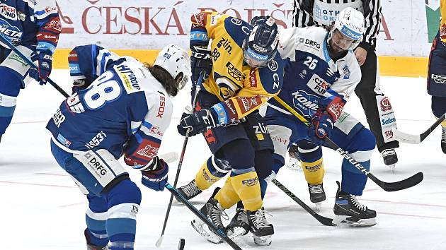HC Kometa Brno (v modrém) proti PSG Berani Zlín