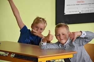 První školní den 2. září 2019 dětí v Základní škole Halenkovice.