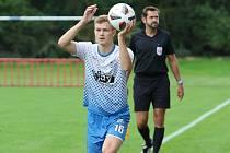 Martin Zedníček proti Vrchovině odehrál 73 minut.
