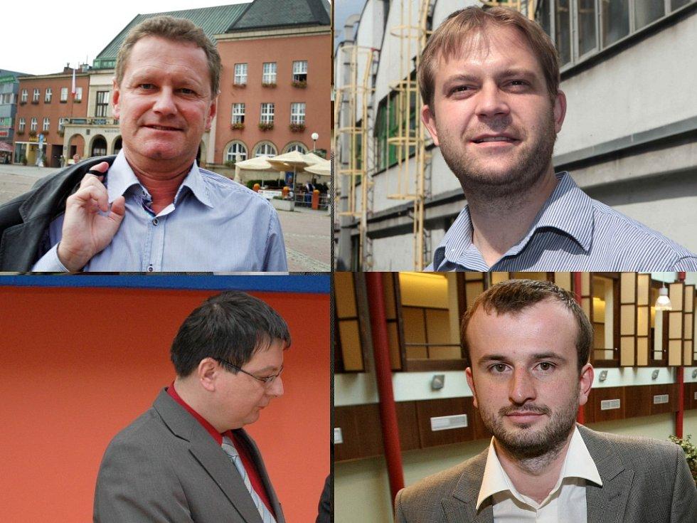 Zleva nahoře: Miroslav Adámek, Oldřich Hájek. Zleva dole: Jiří Přecechtěl, Lukáš Žaludek.