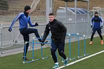 Fotbalisté Zlína v sobotu na Vršavě zahájili zimní přípravu. Na snímku talent Jan Hellebrand