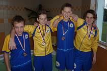 Martin Klusal, Milan Šimek, Matěj Zábojník a Adam Pastušan, kteří ve štafetě vybojovali bronz.