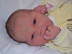Terezie Barcůchová ze Zlína se narodila 3.4.2012, váha 4180 g míra 50 cm