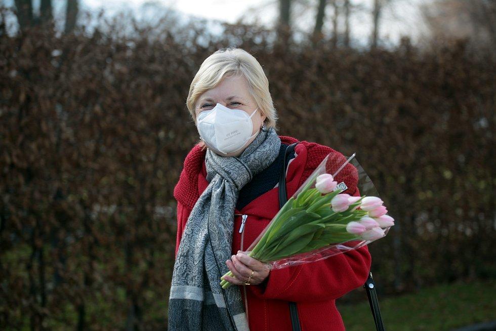 První den povinného nošení respirátorů ve Zlíně, 25. února 2021.