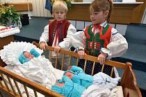 Otrokovické trio na vítání občánků.