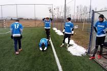 Zimní liga v malém fotbale ve Fryštáku Benfika - Poskládaní