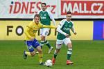 Fotbalisté Zlína ve 26. kole FORTUNA:LIGY hráli v Jablonci. Na snímku je Jakub Janetzký (ve žlutém dresu).
