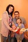 Vítání dětí městský úřad 28.4.2017. Alena a Marián Konrády s dcerou Sofií a synem Simonem