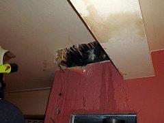 V Zádveřicích-Rakové hořel komín domu