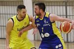 Basketbalisté Zlína (v modrém). Ilustrační foto