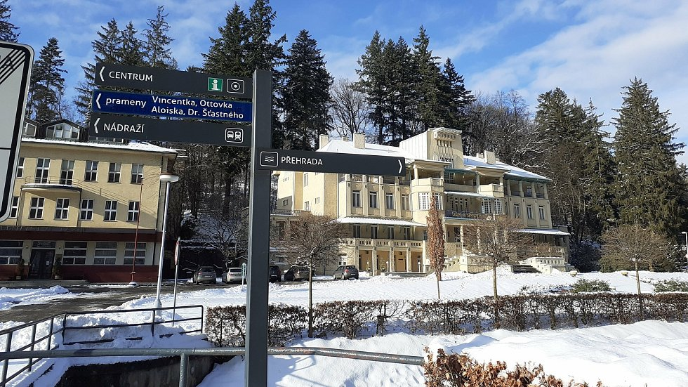 Zima v Luhačovicích. 16. ledna 2021