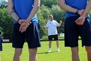 Trénink FC Fastav Zlín.  trenér JOSEF CSAPLÁR