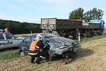 Těhotná řidička bourala u Lukova