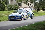 V rámci 49. ročníku Barum Czech Rally Zlín absolvovali v sobotu dopoledne jezdci rychlostní zkoušku Březová. Na snímku Václav Pech