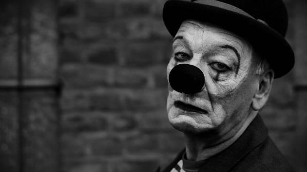 Deprese - klaun. Ilustrační foto.