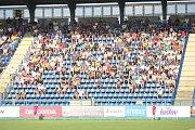 Fotbalisté Zlína (ve žlutých dresech) se v úvodním zápase nové sezony utkali s Mladou Boleslaví. Zápas nedohrál domácí kapitán Lukáš Železník. Foto: Deník/Libor Kopl