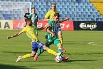 Fotbalisté Zlína (žluté dresy) v 7. kole FORTUNA:LIGY podlehli pražským Bohemians 1:3.