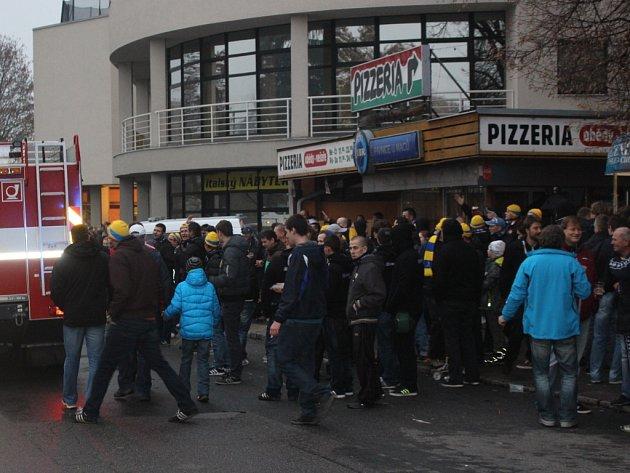 Fotbalová atmosféra ve Zlíně