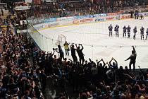 Hokejové utkání navštívilo 1000 fanoušků Komety Brno.