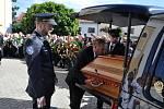 Pohřeb významného moravského agronoma a politika Františka Čuby se konal v kostele Narození sv. Jana Křtitele ve Slušovicích ve středu 3. července 2019.