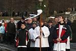 Pohřeb Honzíka Kubelky.