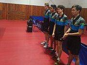 Foto extraligových stolních tenistek KST JP Boka Trade Hluk.